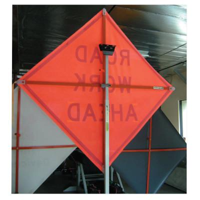 TrafFix Devices, Inc. Vinyl Roll Up Sign with Plastic Corner Pockets, Marathon Reflective Orange, 48in, 26048-ERM-HF
