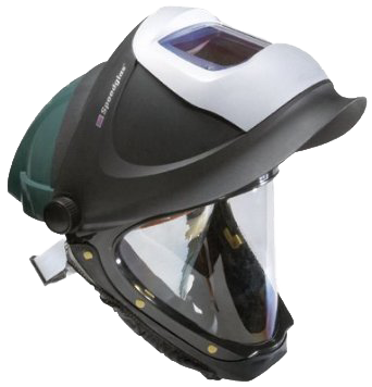 3M Speedglas 9100 Series L-705SG Green Turbo Assembly Hard Hat with Welding Shield - AMMC
