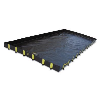 Justrite Rigid-Lock QuickBerm Spill Containment Berms, Black, 5860 gal, 56 ft x 14 ft, 28510