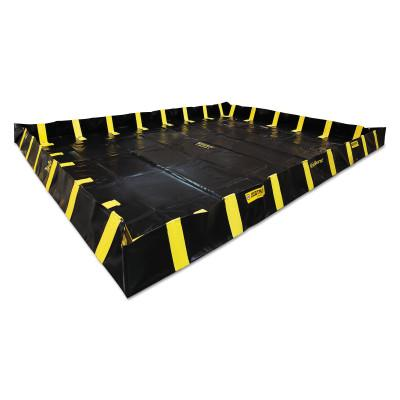 Justrite QuickBerm Spill Containment Berms, Black, 2990 gal, 20 ft x 20 ft, 28554