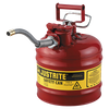 Justrite Type II AccuFlow Steel Safety Can for flammables - AMMC - 1