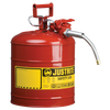 Justrite Type II AccuFlow Steel Safety Can for flammables - AMMC - 4