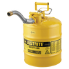 Justrite Type II AccuFlow Steel Safety Can for flammables - AMMC - 5