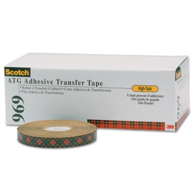 3M Scotch A.T.G. Adhesive Transfer Tape 969, 3/4 in x 18 yd, 5 mil, Clear, 7000048451