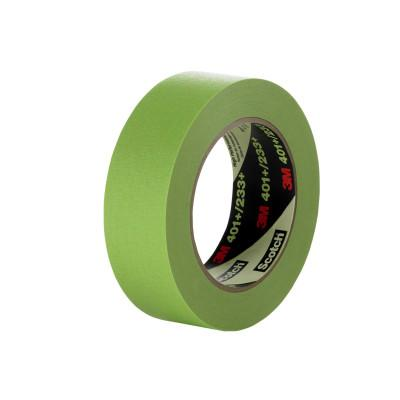 3M High Performance Masking Tapes 401+, 6 mm x 55 m, Green, 7000124906