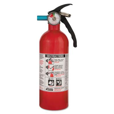 Kidde Automobile Fire Extinguishers, Class B and C Fires, 2 lb Cap. Wt., 440160MTL