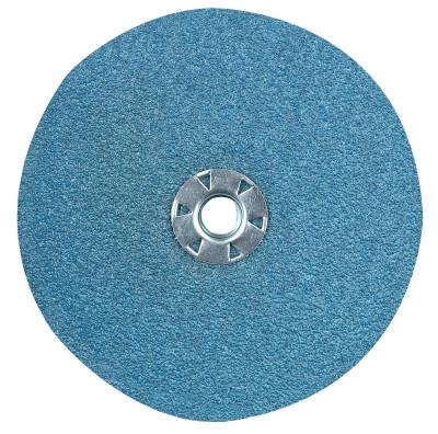 CGW Abrasives Resin Fibre Discs, Zirconia, 7 in Dia., 80 Grit, 48126