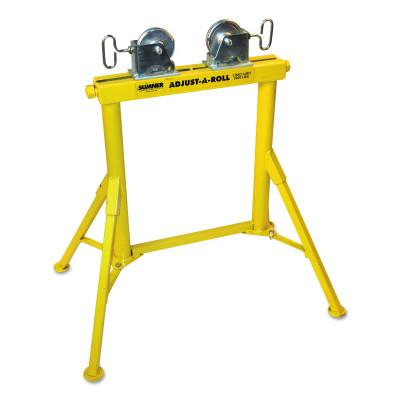 Sumner Hi Adjust-A-Roll Stands, Ball Transfer, 1,000 lb Cap., 1/2 in-48 in Pipe, 780366