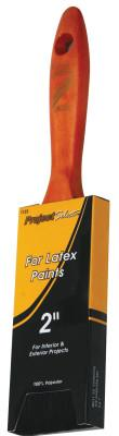 Linzer Latex Paint Brushes, 9/16 in thick, 2 1/2 in trim, Polyester, Walnut Wood handle, 1123-2