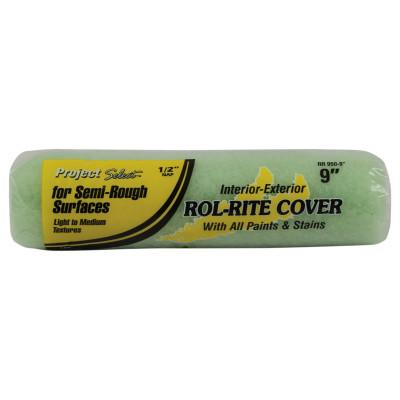 Linzer Rol-Rite Roller Covers, 9 in, 1/4 in Nap, Knit Fabric, RR925-9