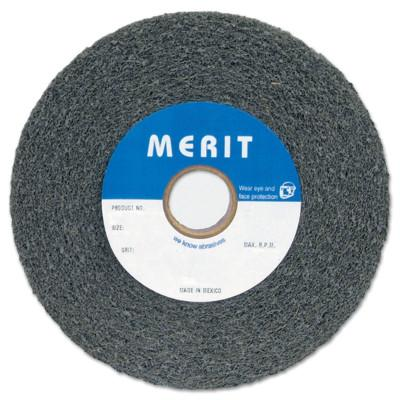 Merit Abrasives Clean/Finish Convolute Wheels, 6 X 1 X 1, Medium, 3,000 rpm, Silicon Carbide, 5539512526