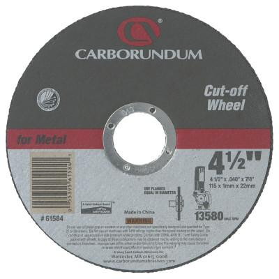 Carborundum Right Angle Grinders, 5 in Dia, .045 in Thick, 60 Grit Alum. Oxide, 5539561585