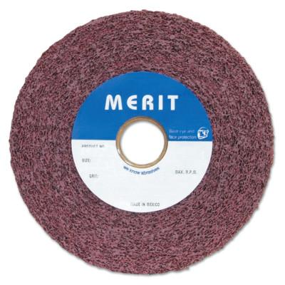 Merit Abrasives Metal Finishing Convolute Wheels, 8 X 1 X 3, Medium, 4,500 rpm, Aluminum Oxide, 5539563442