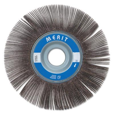 Merit Abrasives High Performance Flap Wheels, 6 in x 2 in, 180 Grit, 6,000 rpm, 8834123038