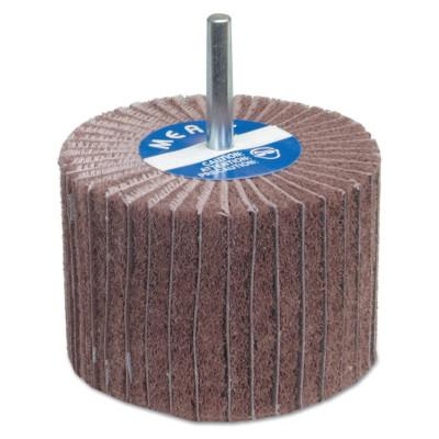 Merit Abrasives Interleaf Flap Wheels with Mounted Steel Shanks, 3 in x 1 in, 320 Grit, 8834138119