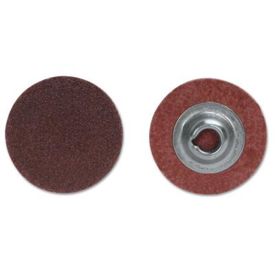 Merit Abrasives ALO Plus PowerLock Cloth Discs-Type II, Aluminum Oxide, 2 in Dia., 50 Grit, 8834166898