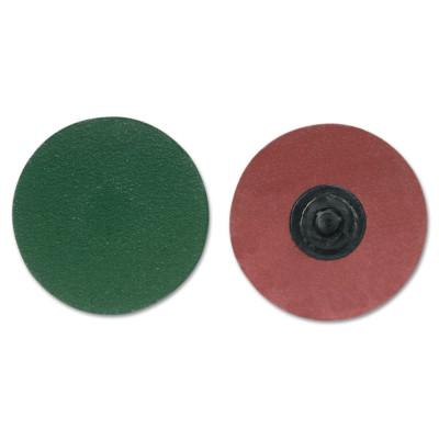 Merit Abrasives ZIRC Plus R801 PowerLock Cloth Discs-Type I, 2 in Dia., 50 Grit, 8834167025