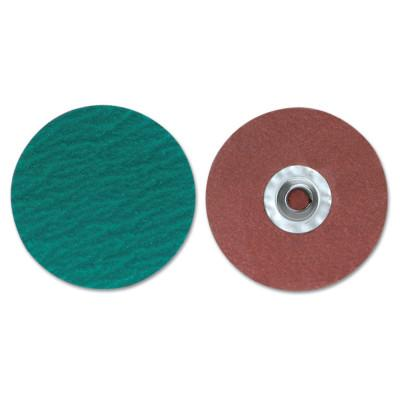 Merit Abrasives ZIRC Plus R801 PowerLock Cloth Discs-Type II, 2 in Dia., 120 Grit, 8834167071