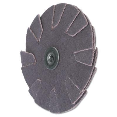 Merit Abrasives Overlap Slotted Alo Resin Bonded Discs-2 Ply, 1 1/4 in Dia., 120 Grit, 8834184084