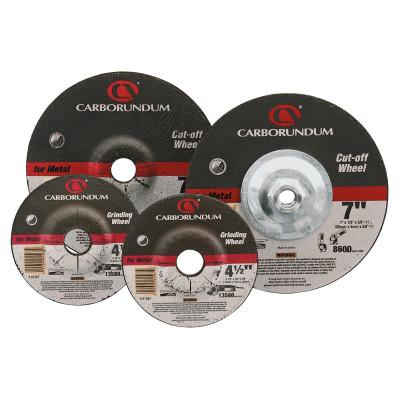 Carborundum Depressed Center Wheel, 7 in Dia, 1/8 in Thick, 7/8 in Arbor, Alum. Oxide, 5539561573