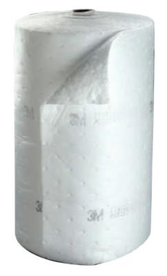 3M High-Capacity Static Resistant Petroleum Sorbent Rolls, Absorbs 73 gal, 7010383501