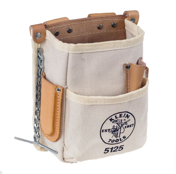 Klein Tools 5125 Five Pocket Tool Pouch - Canvas - AMMC