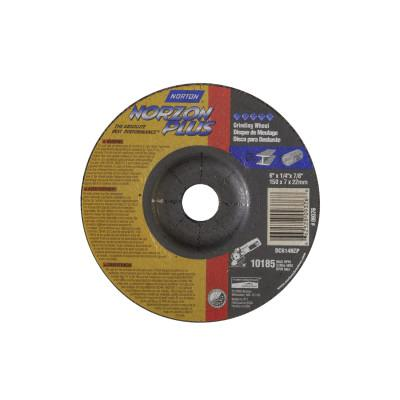 Norton Type 27 NorZon Plus Depressed Center Grinding Wheels, 6 in Dia, 20 Grit, 66252809376