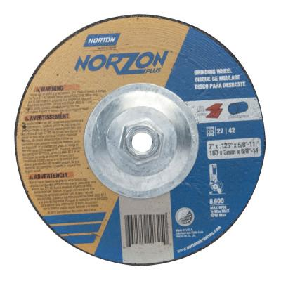 "Norton Gemini RightCut Depressed Center Cut-Off Wheel, 7"" Dia, 3/32"" Thick, 5/8""-11, 66252841907"