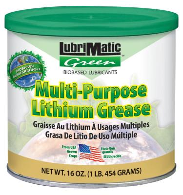 Plews LubriMatic Green Multi-Purpose Grease, 16 oz, Tub, 10302