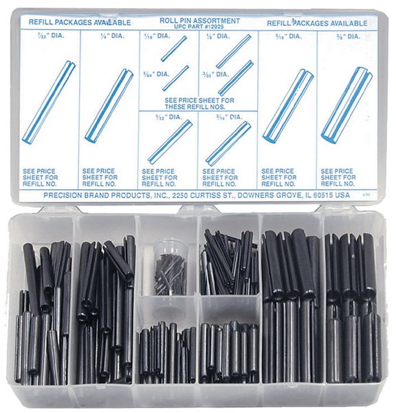 Precison Brand Roll Pin Assortman Kit - 300pc - AMMC
