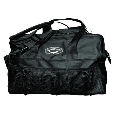 Caiman Gator-Mouth Tool Bags, 20 Compartments, 13 in x 20 in, Black, 66980