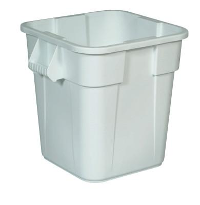 Newell Rubbermaid™ Brute Square Containers, 40 gal, White, 3536-WHT