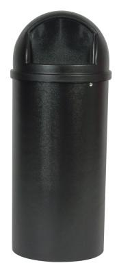 Newell Rubbermaid™ Marshal Classic Containers, 25 gal, Black, 640-8170-88-BK