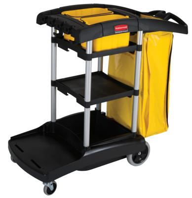 Newell Rubbermaid™ BLACK HIGH CAPACITY CLEANING CART, 9T72
