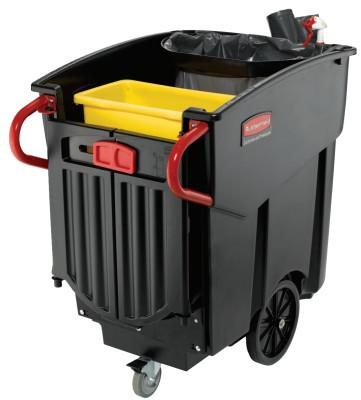 Newell Rubbermaid™ Mega Brute Mobile Waste Collectors, 120 gal, Black, 9W73