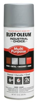 Rust-Oleum® Industrial Industrial Choice 1600 System Enamel Aerosols, 12 oz, Dull Aluminum, High-Gloss, 1614830