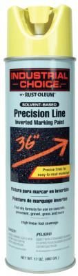 Rust-Oleum® Industrial M1600/M1800 Precision-Line Inverted Marking Paint,17oz, High Visibility Yellow, 203025