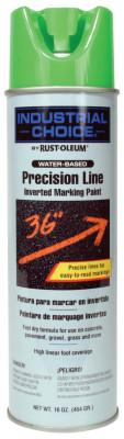 Rust-Oleum® Industrial M1600/M1800 Precision-Line Inverted Marking Paint,17oz,Fluorescent Green,W/B, 203032
