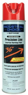 Rust-Oleum® Industrial M1600/M1800 Precision-Line Inverted Marking Paint,17oz, Safety Red, Water-Based, 203038