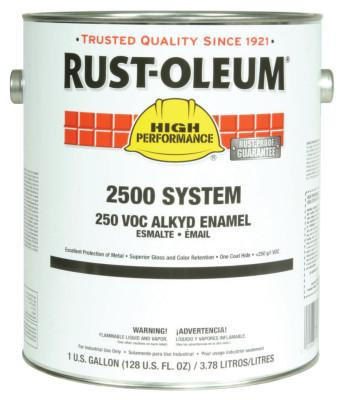 Rust-Oleum® Industrial High Performance 2500 System 250 VOC DTM Alkyd Enamels, 1 Gal Can, White, 215758