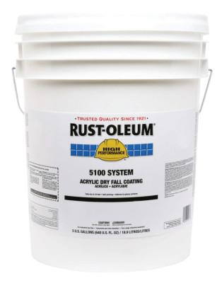 Rust-Oleum® Industrial HIGH PERF 5100 SYSTEM DRY FALL COATING WHT 5-GAL, 251280
