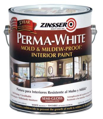 Rust-Oleum® Industrial Perma-White Mold and Mildew Proof Interior Paints, 1 Gal Can, White, Semi-Gloss, 2761