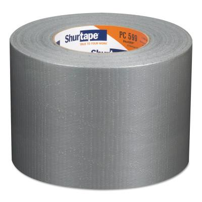 Shurtape® PC 599 ShurGrip  Heavy-Duty Duct Tapes, 96 mm x 55 M x 9 mil, Silver, 152417