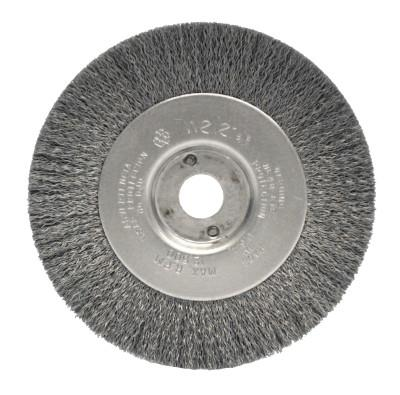 Weiler® Narrow Face Crimped Wire Wheel, 4 in D x 1/2 in W, .0095 Steel Wire, 6,000 rpm, 00124