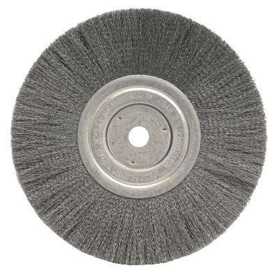 Weiler® Narrow Face Crimped Wire Wheel, 8 in D x 3/4 in W, .0118 Steel Wire, 6,000 rpm, 1165