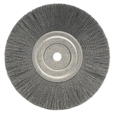 Weiler® Narrow Face Crimped Wire Wheel, 8 in D x 3/4 in W, .014 in Steel Wire, 5/8 Arbor, 01175