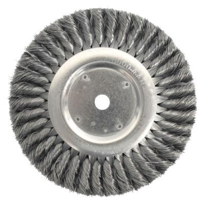 Weiler® Standard Twist Knot Wire Wheel, 8 in D, .014 in Steel Fill, 3/4 in Arbor Hole, 8138