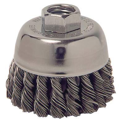 Weiler® Single Row Heavy-Duty Knot Wire Cup Brush, 2 3/4 in Dia., M14 x 2, .014 Steel, 13020
