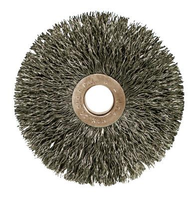 "Weiler® Copper Center™ Small Diameter Wire Wheel, 1 3/8 in D, .008"", 3/8"" Arbor Hole, 15272"