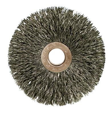 Weiler® Copper Center™ Small Diameter Wire Wheel, 1 1/2 in D, .008 in Stainless Steel, 16712